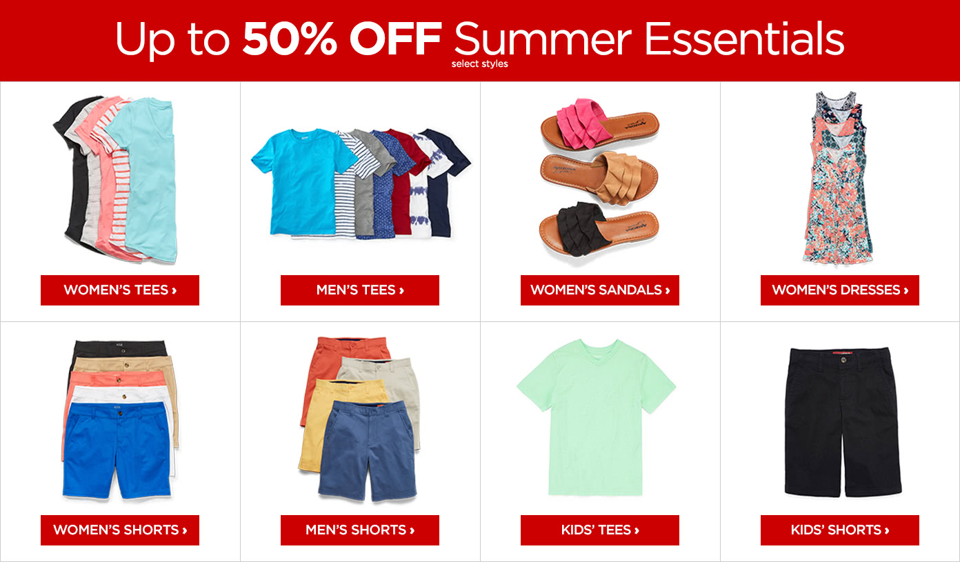Up to 50% off Summer Essentials